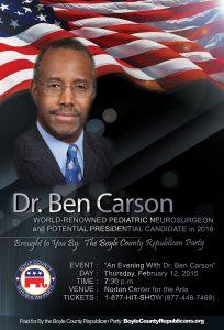 Dr. Ben Carson Comes to Boyle County, Kentucky