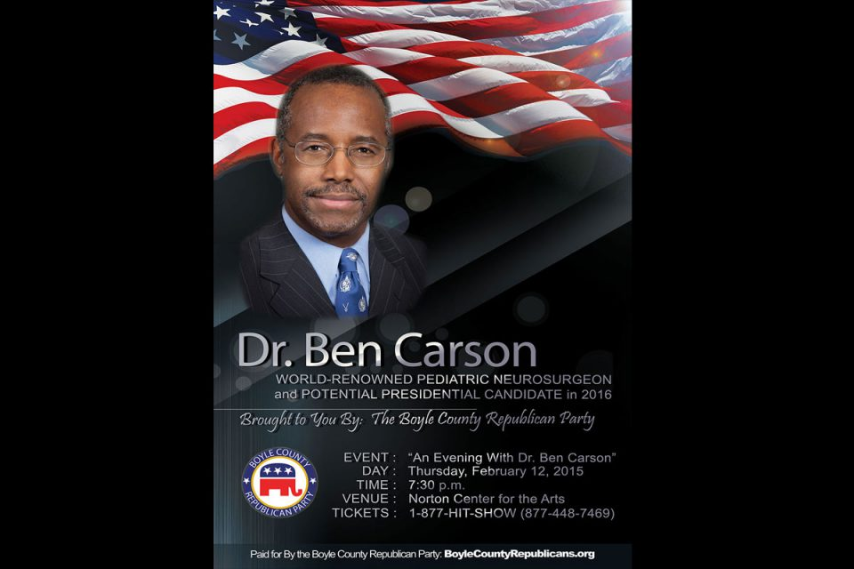 Dr. Ben Carson Comes to Boyle County, Kentucky